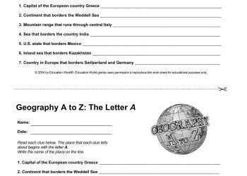 geography letter A-1