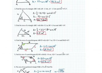 Key The area of a triangle