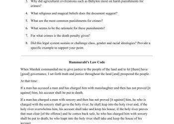 WORKSHEET - Hammurabi's Law Code Analysis-1