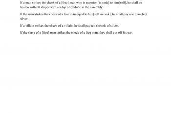 WORKSHEET - Hammurabi's Law Code Analysis-3