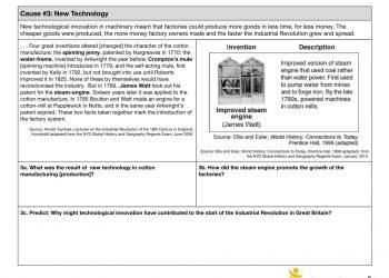 WORKSHEET - Industrial revolution-4